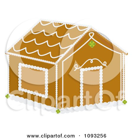 Clipart Gingerbread House - Royalty Free Vector Illustration by Randomway