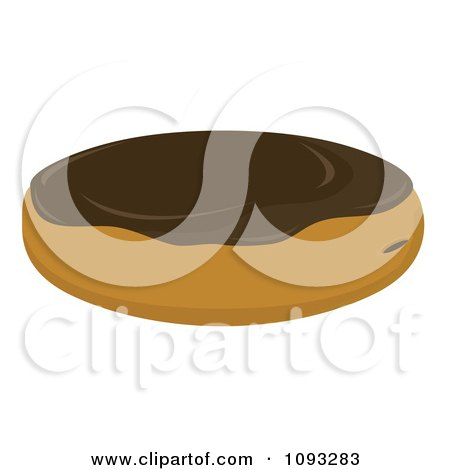 Clipart Filled Chocolate Frosted Donut - Royalty Free ...