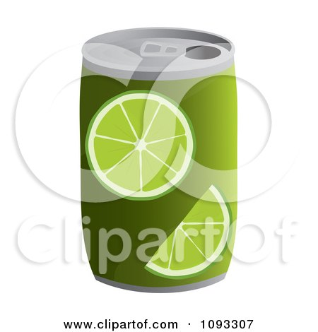 Clipart Can Of Lime Soda - Royalty Free Vector Illustration by Randomway