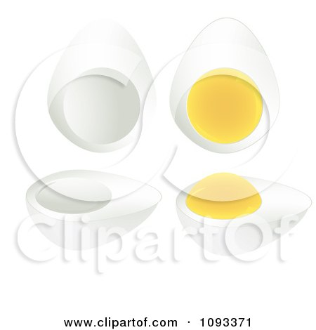 Clipart Hard Boiled Eggs - Royalty Free Vector Illustration by Randomway