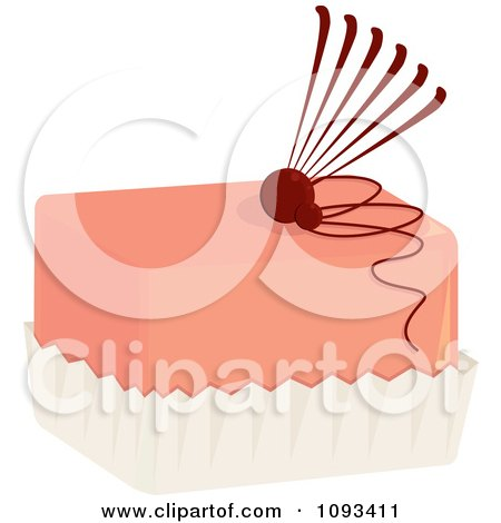 Clipart Pink Fan Petite Four Royalty Free Vector Illustration