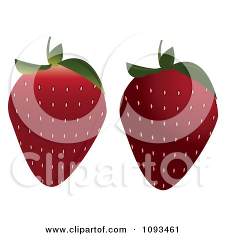 Clipart Strawberries - Royalty Free Vector Illustration by Randomway