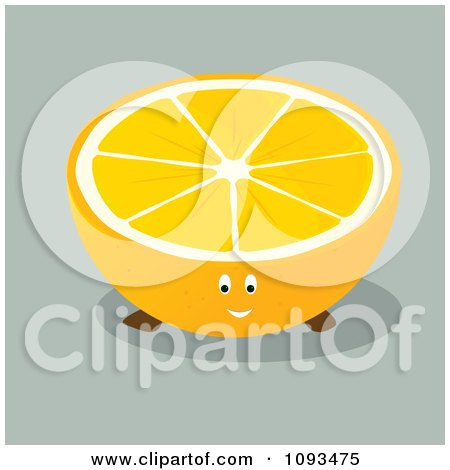 Clipart Orange Character 1 - Royalty Free Vector Illustration by Randomway