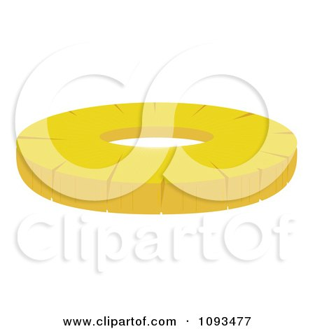 Clipart Pineapple Ring - Royalty Free Vector Illustration by Randomway