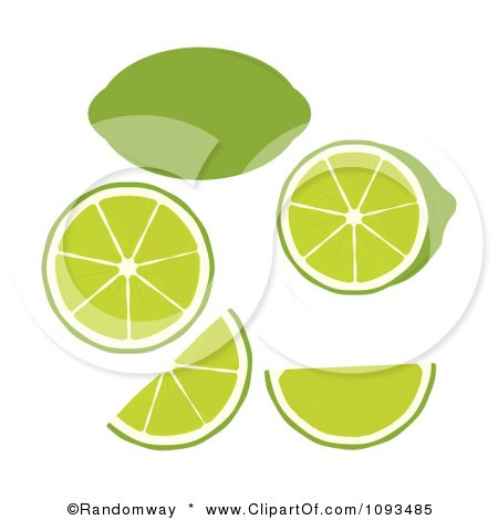 Clipart Limes - Royalty Free Vector Illustration by Randomway