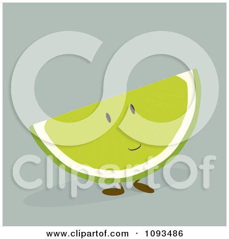 Clipart Lime Character - Royalty Free Vector Illustration by Randomway