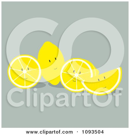 Clipart Lemon Characters - Royalty Free Vector Illustration by Randomway