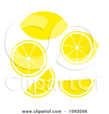 Clipart Lemons - Royalty Free Vector Illustration by Randomway
