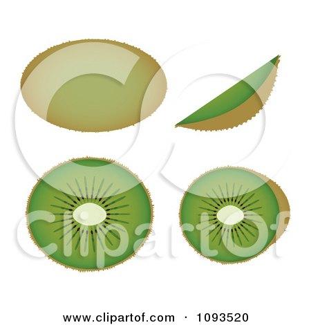 Clipart Kiwis - Royalty Free Vector Illustration by Randomway