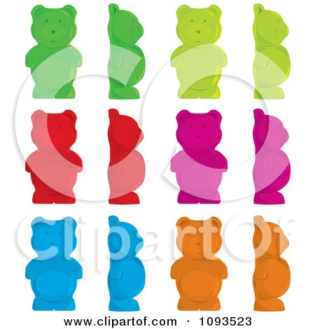 Clipart Colorful Gummy Bears - Royalty Free Vector Illustration by Randomway