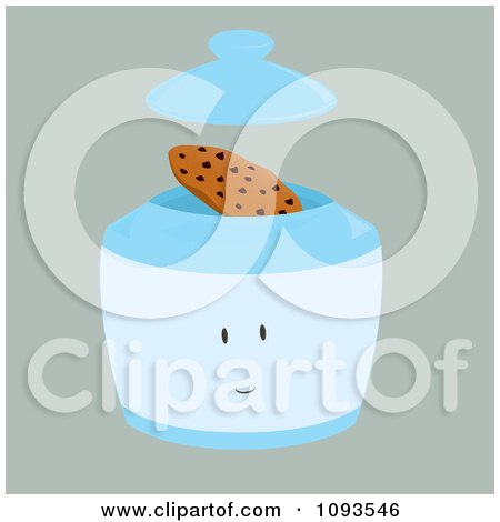 Clipart Cookie Jar Character 2 - Royalty Free Vector Illustration by Randomway
