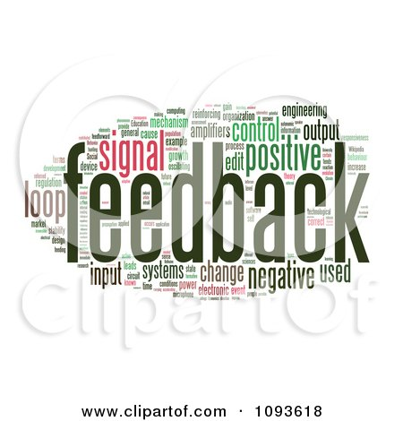 Clipart Feedback Word Collage 2 - Royalty Free Illustration by MacX