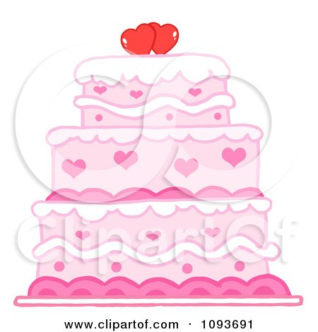 Royalty-Free Vector Clip Art Illustration of a Pink, Blue ...