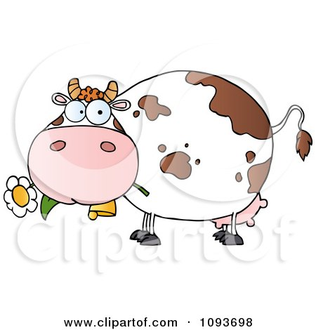 Clipart Black And White Cow Farmer Waving And Driving A