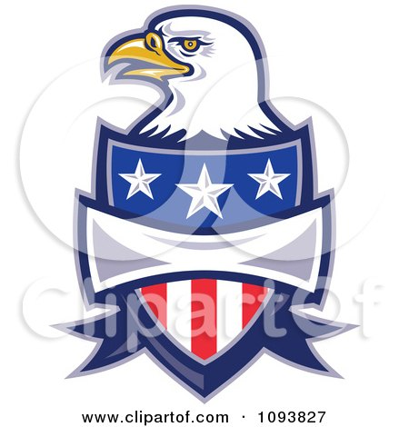 Clipart Bald Eagle And American Shield - Royalty Free CGI Illustration by patrimonio