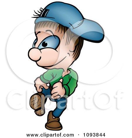 Clipart Boy Walking - Royalty Free Vector Illustration by dero