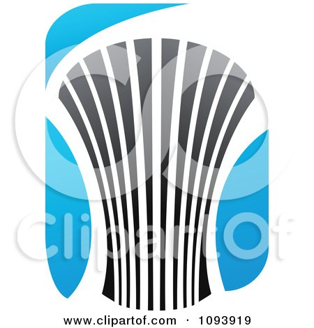 Clipart Blue White And Gray Urban Skyscraper Logo 12 - Royalty Free Vector Illustration by elena