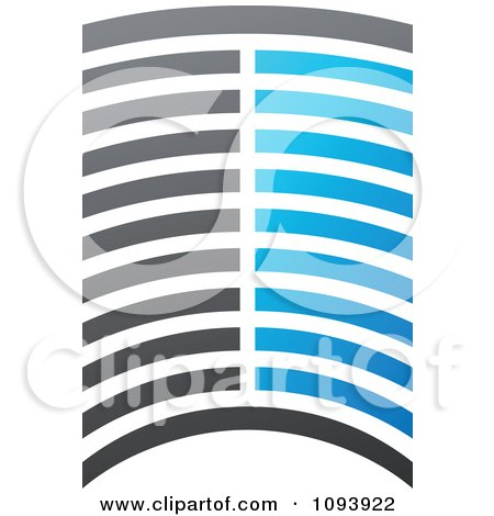 Clipart Blue White And Gray Urban Skyscraper Logo 6 - Royalty Free Vector Illustration by elena