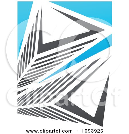 Clipart Blue White And Gray Urban Skyscraper Logo 10 - Royalty Free Vector Illustration by elena