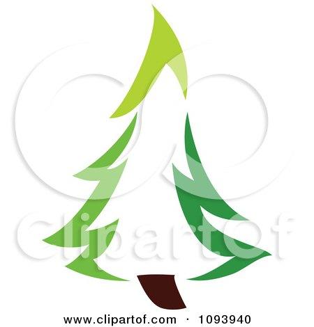Clipart Green Tree Logo 7 - Royalty Free Vector Illustration by elena