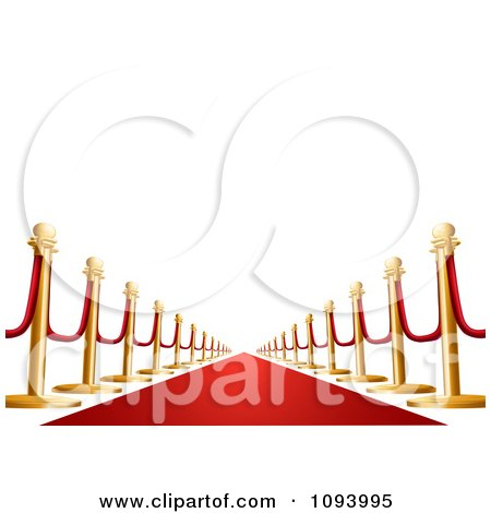 Clipart 3d VIP Red Carpet - Royalty Free Vector Illustration by AtStockIllustration