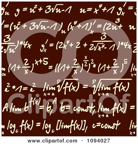 Clipart Seamless Math Formulas Written On Brown - Royalty Free Vector Illustration by Vector Tradition SM