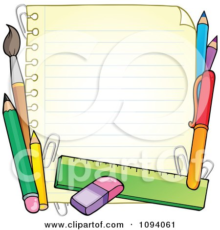 Royalty Free Vector on Ruled Paper 1   Royalty Free Vector Illustration By Visekart  1094061