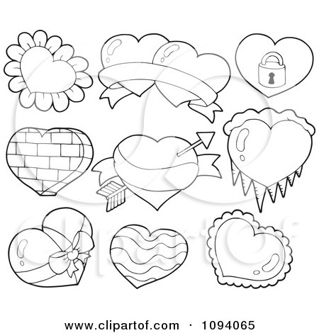 royalty free rf icy heart clipart illustrations vector graphics 1. Black Bedroom Furniture Sets. Home Design Ideas