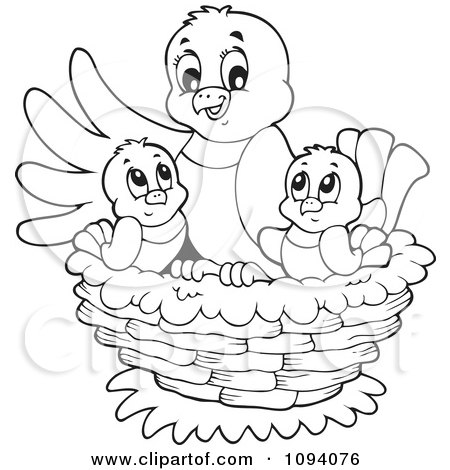 Empty bird nest coloring page