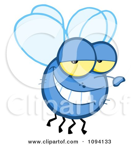Clipart Grinning Fly - Royalty Free Vector Illustration by Hit Toon