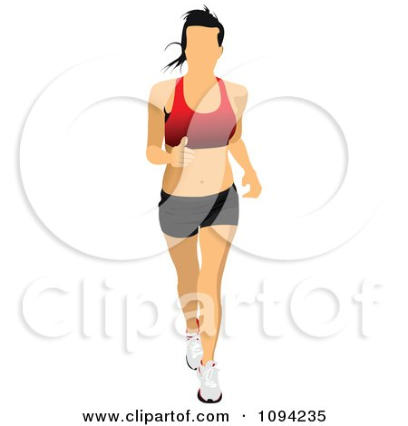 Clipart Female Jogger 4 - Royalty Free Vector Illustration by leonid