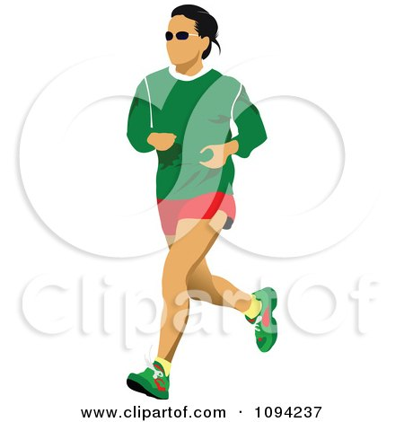 Clipart Female Jogger 1 - Royalty Free Vector Illustration by leonid