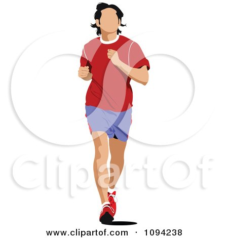 Clipart Male Jogger - Royalty Free Vector Illustration by leonid