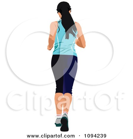 Clipart Female Jogger 2 - Royalty Free Vector Illustration by leonid
