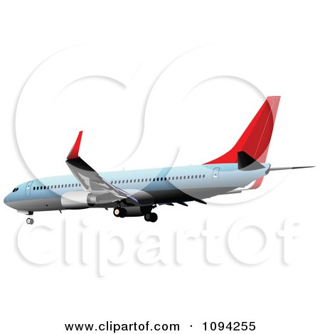 Clipart Commercial Jumbo Jet Airliner 2 - Royalty Free Vector Illustration by leonid