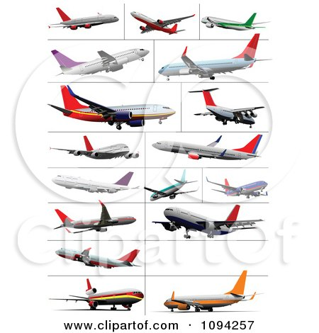 Clipart Commercial Airliner Air Bus Plane 7 - Royalty Free Vector ...
