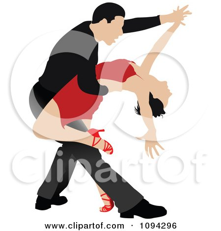 Clipart Tango Dancing Couple 1 - Royalty Free Vector Illustration by leonid
