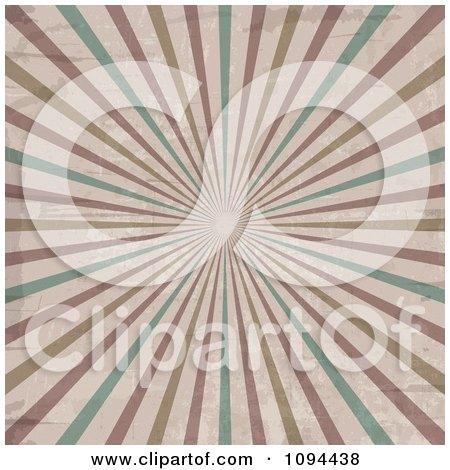 Grungy Retro Burst Of Rays Posters, Art Prints