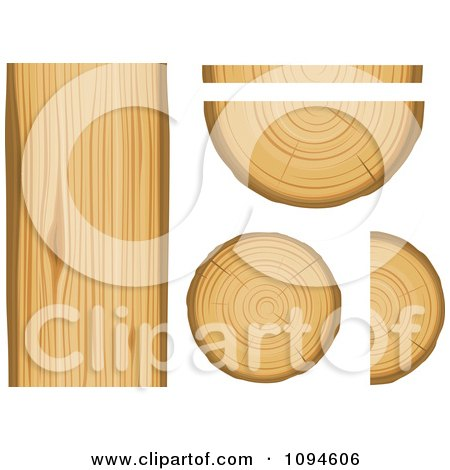 Clipart Wood And Lumber - Royalty Free Vector Illustration by Vector Tradition SM