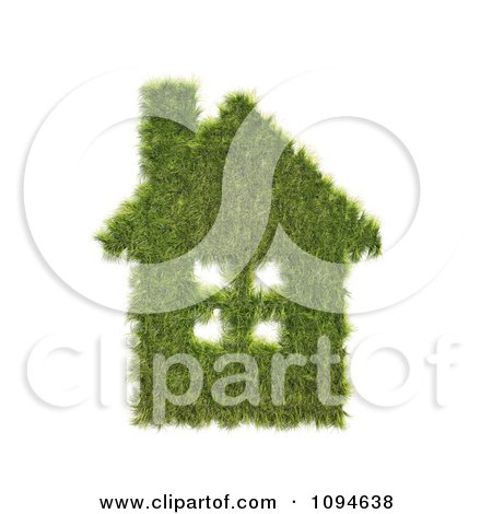 Clipart 3d Grass House - Royalty Free CGI Illustration by Mopic
