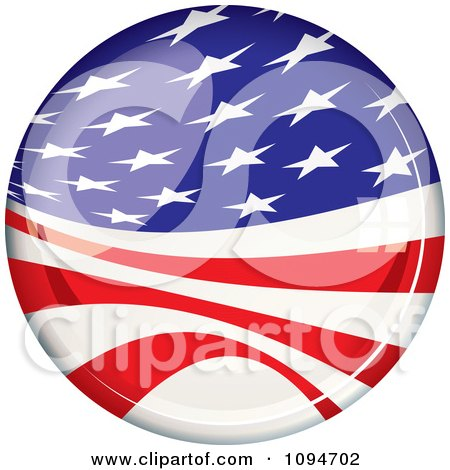 Clipart Oval Light Reflecting Off Of An American Flag Badge - Royalty Free Vector Illustration by michaeltravers