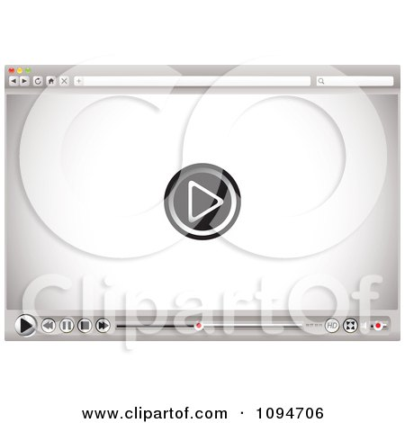 Clipart Internet Video Player And Control Buttons On A Browser - Royalty Free Vector Illustration by michaeltravers