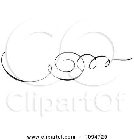 Clipart Black And White Ornate Swirl Rule Or Border 7 - Royalty Free Vector Illustration by BestVector