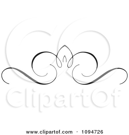 Clipart Black And White Ornate Swirl Rule Or Border 8 - Royalty Free Vector Illustration by BestVector