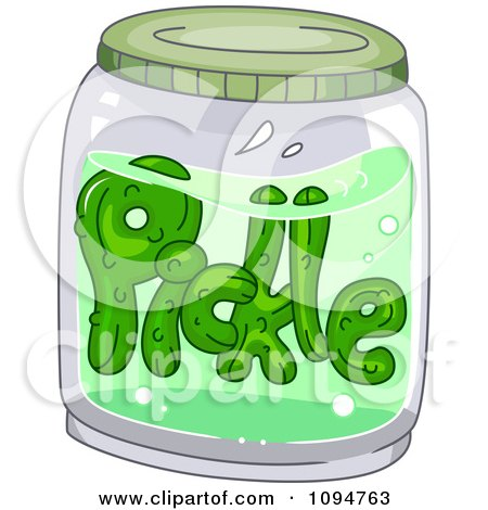 Pickle Floating in a Jar