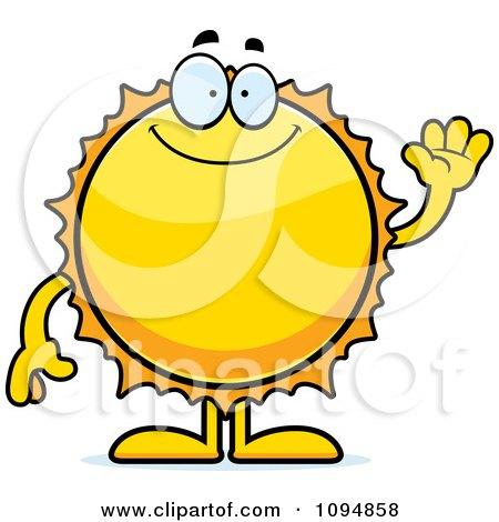Clipart Waving Sun - Royalty Free Vector Illustration by Cory Thoman