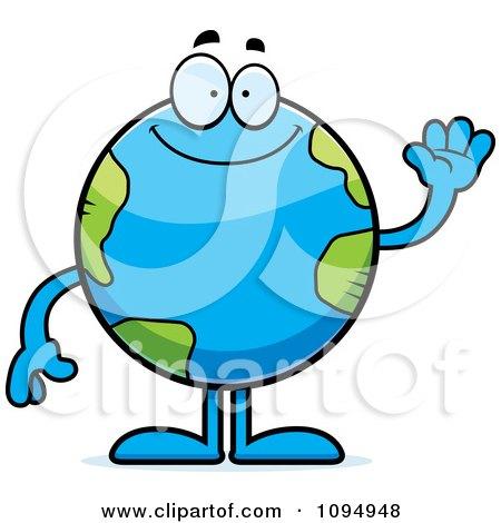 Clipart Waving Earth Globe - Royalty Free Vector Illustration by Cory Thoman