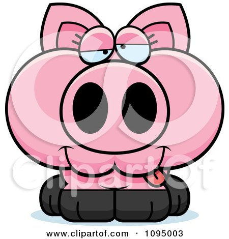 Clipart Drunk Piglet - Royalty Free Vector Illustration by Cory Thoman