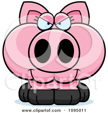 Clipart Sly Piglet - Royalty Free Vector Illustration by Cory Thoman