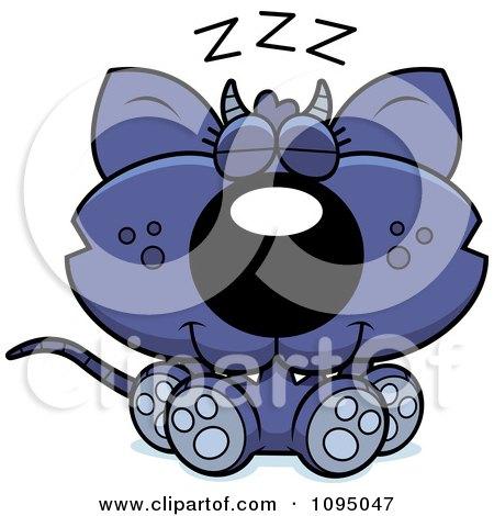 Clipart Sleeping Chupacabra - Royalty Free Vector Illustration by Cory Thoman